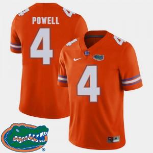 Orange High School College Football #4 Men 2018 SEC University of Florida Brandon Powell Jersey 787761-398