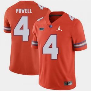 UF Brandon Powell Jersey College For Men #4 Jordan Brand Replica 2018 Game Orange 834397-483