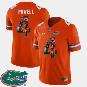 #4 Orange Florida Gators Brandon Powell Jersey Pictorial Fashion Football Men's Player 331774-353