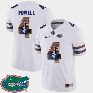 Gators Brandon Powell Jersey #4 White Men Pictorial Fashion Stitch Football 825980-422