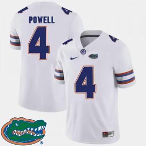 #4 White Florida Gator Brandon Powell Jersey 2018 SEC Alumni College Football Mens 984618-358
