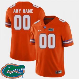 College Football Official #00 2018 SEC University of Florida Customized Jerseys Orange For Men's 759077-369