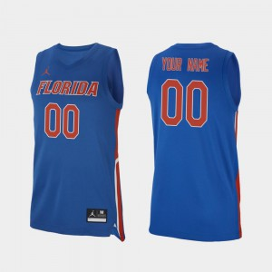 Mens University of Florida Customized Jersey Replica Official #00 Royal 2019-20 College Basketball 396697-764
