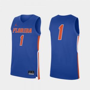 Replica Florida Jersey College Basketball For Men Player #1 Royal 871388-542