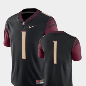 College Football 2018 Game Embroidery Men Black #1 Seminole Jersey 384732-947