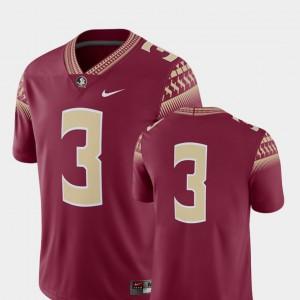 Seminole Jersey College Football University #3 Garnet Mens 2018 Game 595196-341