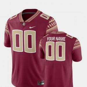 #00 Garnet College Football College Florida State Customized Jerseys Men 2018 Game 502284-840