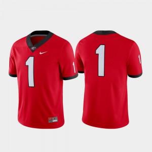 High School Game Red University of Georgia Jersey #1 Football Mens 645523-628