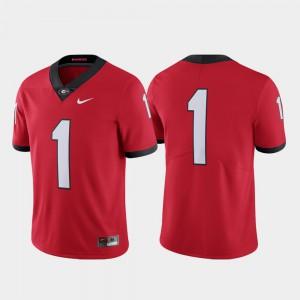 Limited College Football Mens Red Georgia Bulldogs Jersey #1 Alumni 674610-175
