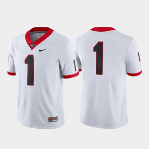 College Football Embroidery Men's Game White #1 University of Georgia Jersey 416763-585