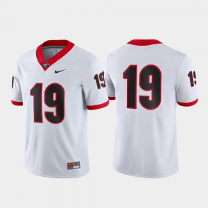 White Game University of Georgia Jersey #19 Player For Men's 531254-860