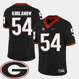 #54 University of Georgia Brandon Kublanow Jersey 2018 SEC Patch Player Black College Football For Men 183284-170