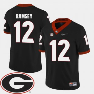 2018 SEC Patch Black College Football Georgia Brice Ramsey Jersey Stitched #12 For Men 302652-669