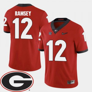 #12 University of Georgia Brice Ramsey Jersey 2018 SEC Patch College Football Stitched Red For Men 721808-617