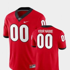 College 2018 Game Red College Football #00 Mens GA Bulldogs Customized Jerseys 126015-485