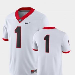 College Football University of Georgia Jersey Men White #1 2018 Game College 245897-303