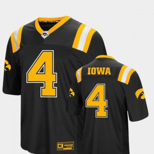 #4 Men's Foos-Ball Football University of Iowa Jersey Colosseum Black High School 465232-848