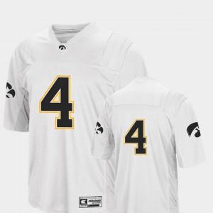 Colosseum #4 College Football Stitched University of Iowa Jersey White Men 468352-917