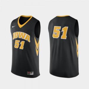 Black Men Replica College Basketball University #51 Hawkeyes Jersey 584139-876