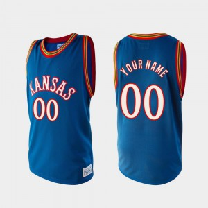College Basketball For Men Royal Alumni High School Jayhawks Customized Jersey #00 495741-988