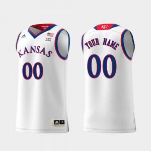 Replica University of Kansas Custom Jerseys Swingman College Basketball Embroidery White #00 For Men's 435459-967