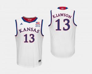 White Kansas Jayhawks K.J. Lawson Jersey Men's College Basketball University #13 675496-984