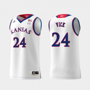 Men #24 Replica High School White Swingman College Basketball University of Kansas Lagerald Vick Jersey 749123-898