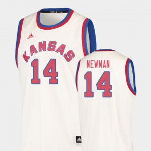 Men Hardwood Classics High School Cream Jayhawks Malik Newman Jersey #14 College Basketball 299243-113