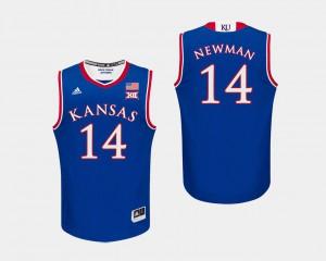 Royal #14 NCAA Kansas Malik Newman Jersey Men College Basketball 493255-910