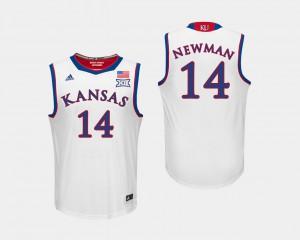 College Basketball Alumni White University of Kansas Malik Newman Jersey #14 Men 702345-435