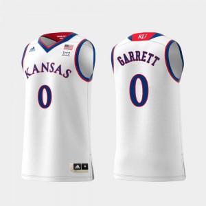 Kansas Marcus Garrett Jersey Replica White Embroidery For Men Swingman College Basketball #0 972865-527