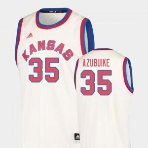 Cream College Basketball Hardwood Classics Men's University of Kansas Udoka Azubuike Jersey Player #35 976856-730