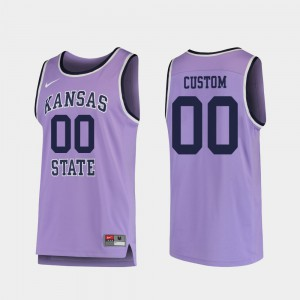 Replica #00 College Basketball K-State Custom Jersey For Men's Embroidery Purple 612461-926