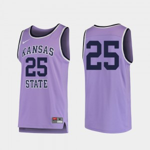#25 Purple Replica Stitch KSU Jersey Mens College Basketball 578805-117