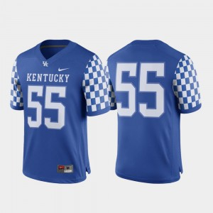 #55 Official College Football For Men's Game Royal Kentucky Wildcats Jersey 233713-860