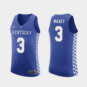 University of Kentucky Tyrese Maxey Jersey Royal Men's Replica College Basketball #3 High School 224022-220