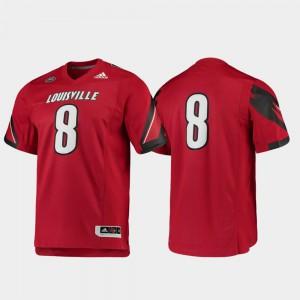 Red #8 For Men Football Alumni Louisville Jersey Premier 565956-239