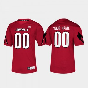 Mens Red Embroidery U of L Customized Jersey #00 College Football 210123-413