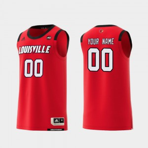 College Basketball #00 Replica Embroidery University Of Louisville Customized Jersey Red Mens 506589-240