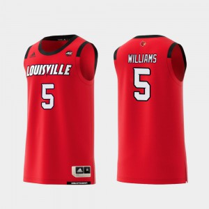 Cardinal Malik Williams Jersey Red #5 Replica College Basketball Stitched Mens 386435-755