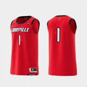 Louisville Cardinals Jersey Basketball Swingman Men Red #1 College Replica Alumni 403197-746