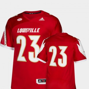 College College Football Men #23 Premier Red Louisville Cardinal Jersey 860093-543