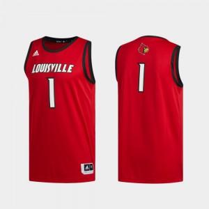 Basketball Swingman Red #1 Swingman Basketball Cardinals Jersey NCAA For Men's 349699-293