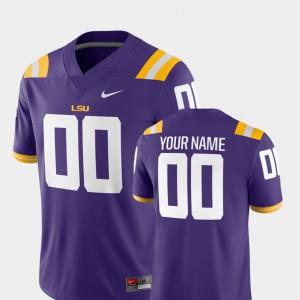 #00 Men Stitch 2018 Game LSU Customized Jersey Purple College Football 631019-267
