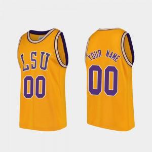 LSU Customized Jersey College Basketball Gold Mens Replica #00 NCAA 617415-843