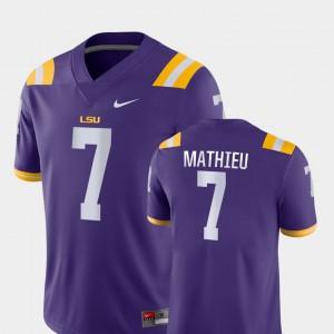 Game High School For Men's Purple Louisiana State Tigers Tyrann Mathieu Jersey #7 College Football 927603-391