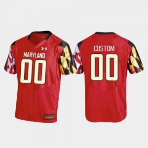 Maryland Customized Jerseys Red College Football Replica #00 College Mens 562901-502
