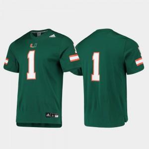 Miami Jersey #1 Men College Football Player Replica Green 178953-352