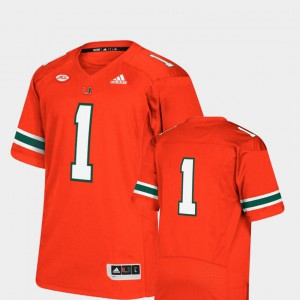 Premier Orange College Football Miami Jersey High School #1 Men 380878-872
