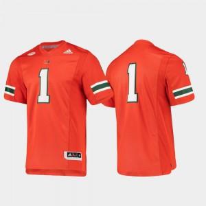 #1 Orange Premier UM Jersey For Men's Stitch Football 440878-153